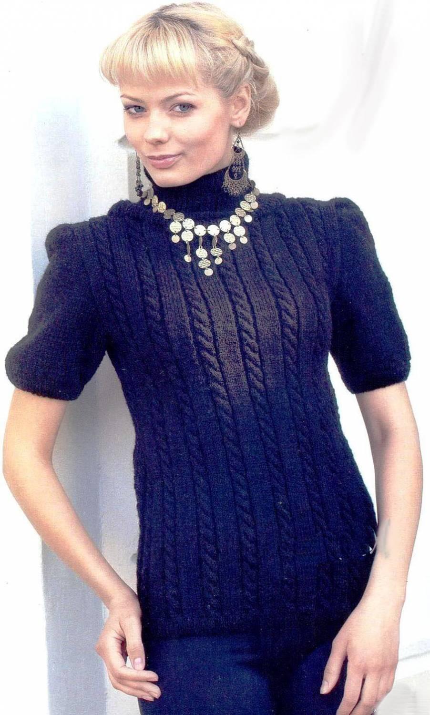 вязание свитера женского схемы 2012